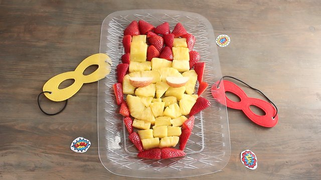 Iron Man's mask fruit platter