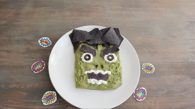 The Hulk guacamole and chips