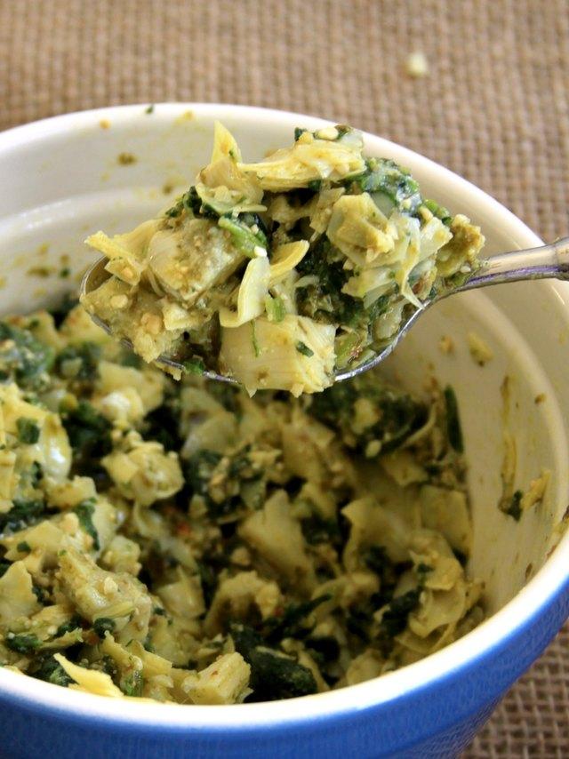 artichoke mixture for spinach and artichoke ravioli casserole