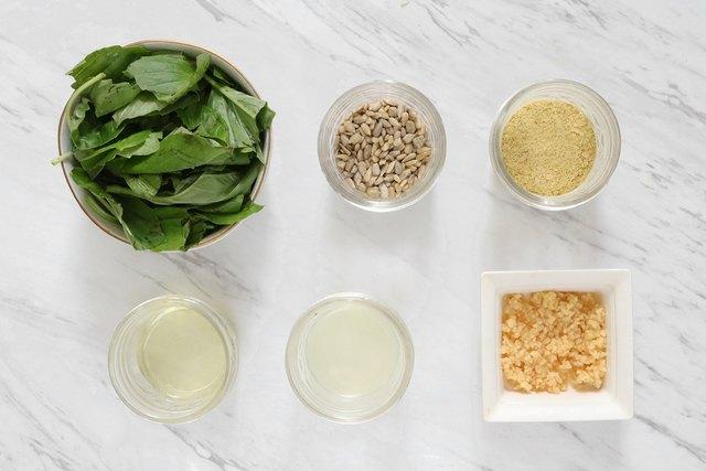 Ingredients for vegan pesto