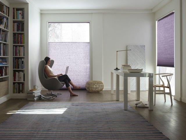 LEVOLOR purple blinds