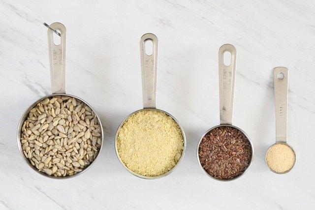 Ingredients for vegan grated Parmesan