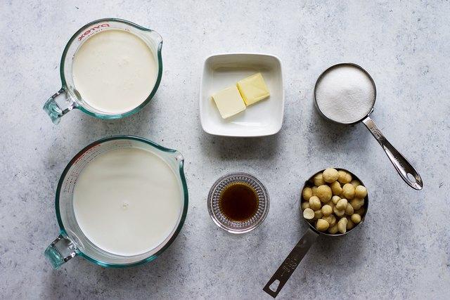 Homemade Macadamia Nut Ice Cream