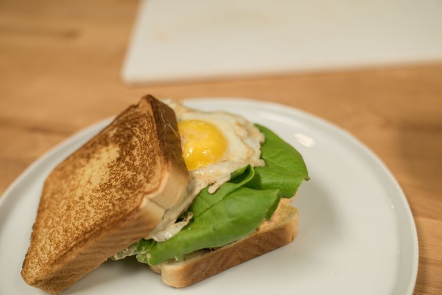 Fried Egg Green Tomato Sandwich with Pimento Cheese