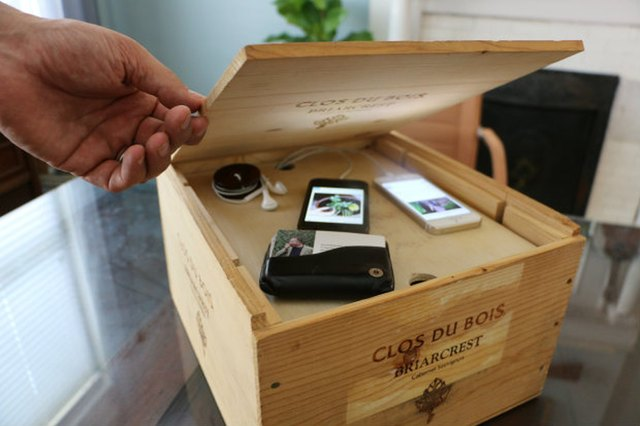 DIY Electronics Charging System Out of a Wine Crate