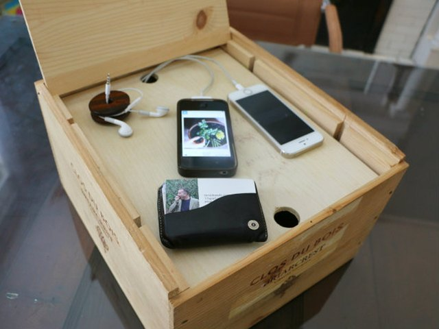 DIY wine crate charging system