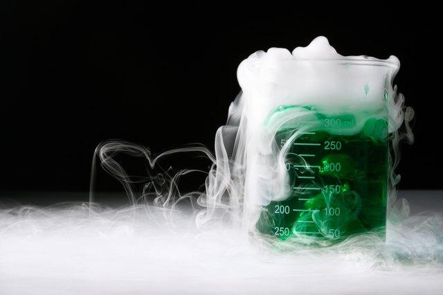Mysterious smoking liquid in beaker