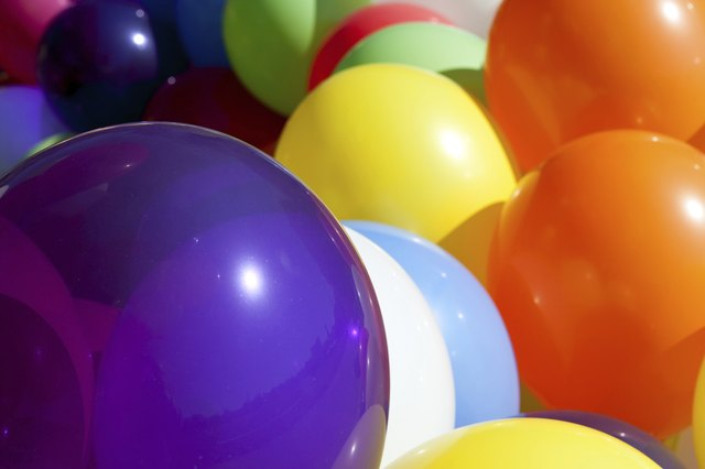 Colorful Balloons At Sunny Outdoor Festival Fill Frame