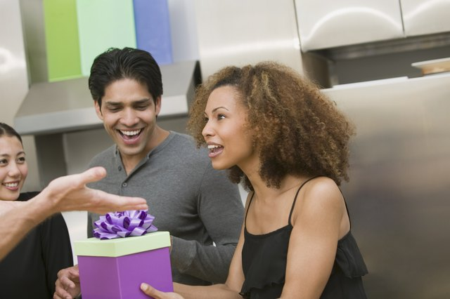 Woman at surprise party