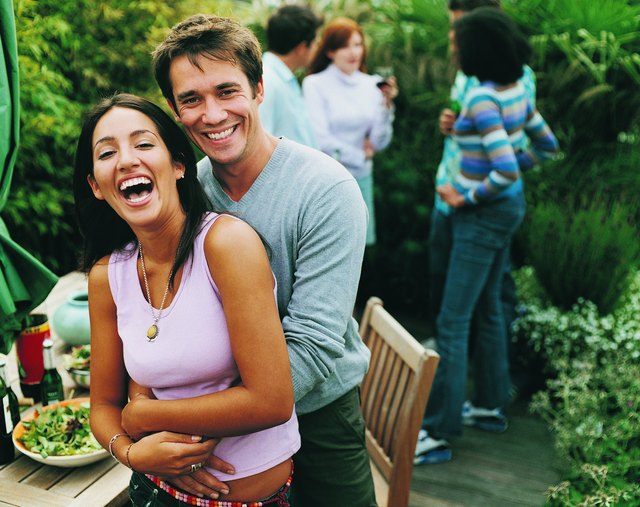 Portrait of a Couple at a Garden Party