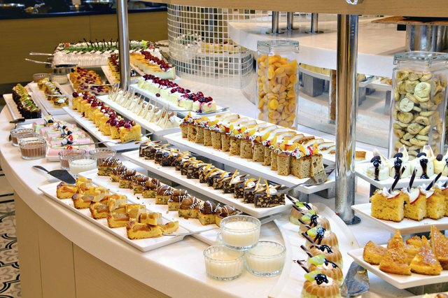 Groups of Buffet food in the Restaurant