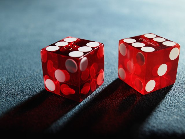 Red dice, close-up