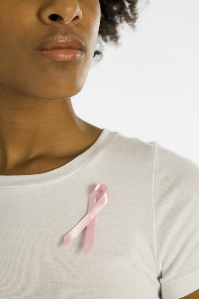 Woman with awareness ribbon