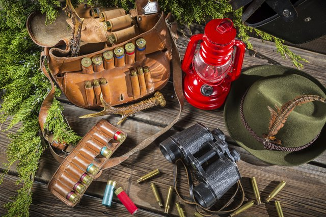Equipment for hunting in forester lodge