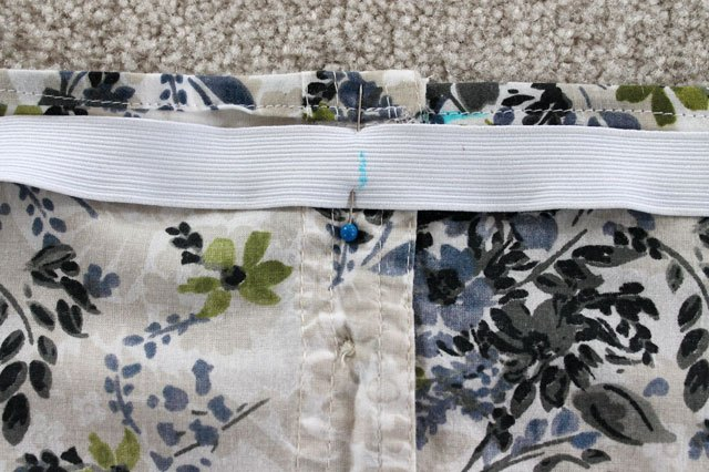 pin elastic to wrong side of neckline