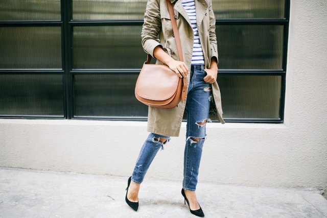 simple denim and a trench coat