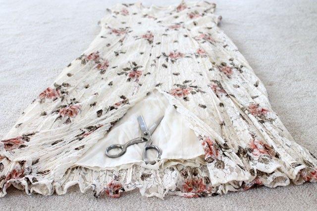 cut center of dress
