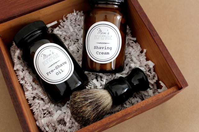 How to Make a Men's Shave Kit with Homemade Shaving Cream and Pre-Shave Oil