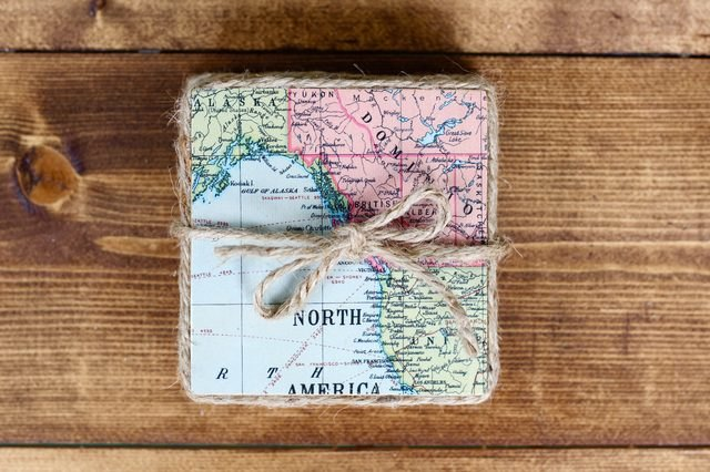 Map coasters.