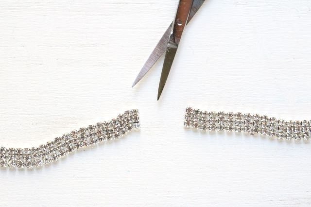 Cut rhinestone trim