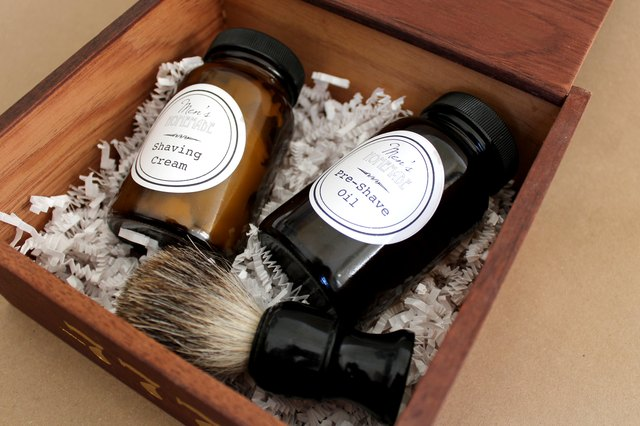 DIY Men's Shave Kit with Homemade Shaving Cream and Pre-Shave Oil