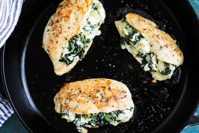 Spinach and Artichoke Stuffed Chicken Recipe
