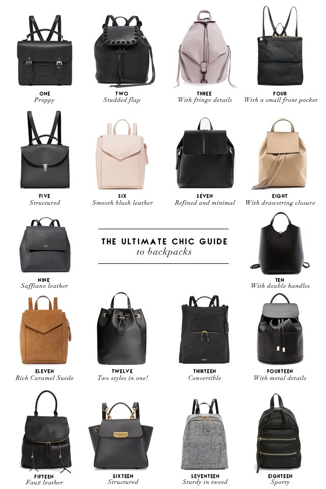Round-up of chic and stylish backpacks
