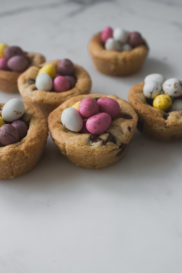Serve and enjoy the Easter Egg Nest Cookie Cups!