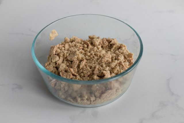 Mix the streusel to form rough clumps.