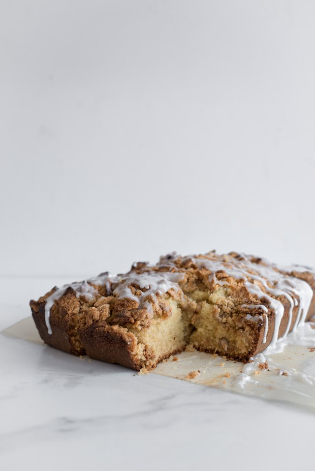 This Cinnamon Toast Crunch Coffee Cake is best eaten warm on the day of making.