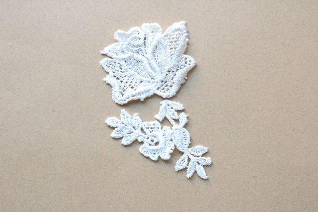 Arrange lace pieces