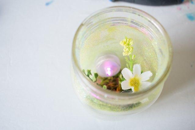 Candle inside jar