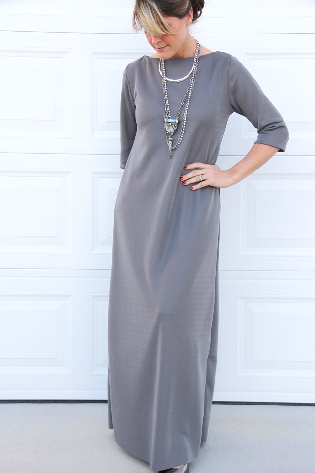 T Shirt maxi dress DIY