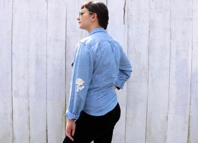 Finished Free People shirt hack