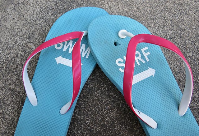 Quick fix for broken thong sandals.