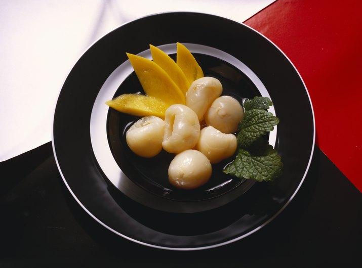 Lychee and mango dessert
