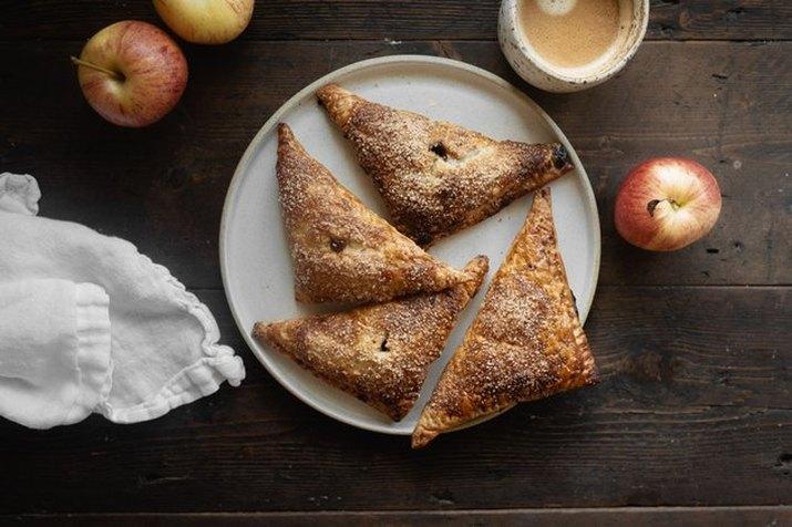 Apple cider caramel turnovers