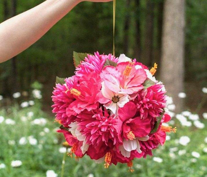 DIY Hanging Flower Balls