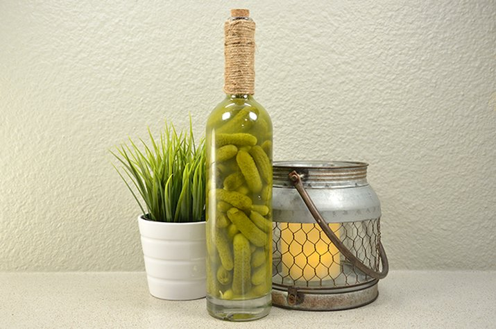 An image of the pickle jar wine bottle.