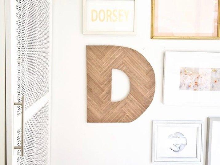 DIY Herringbone Wood Letters