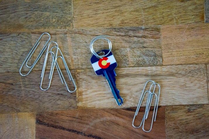 paper clip key ring