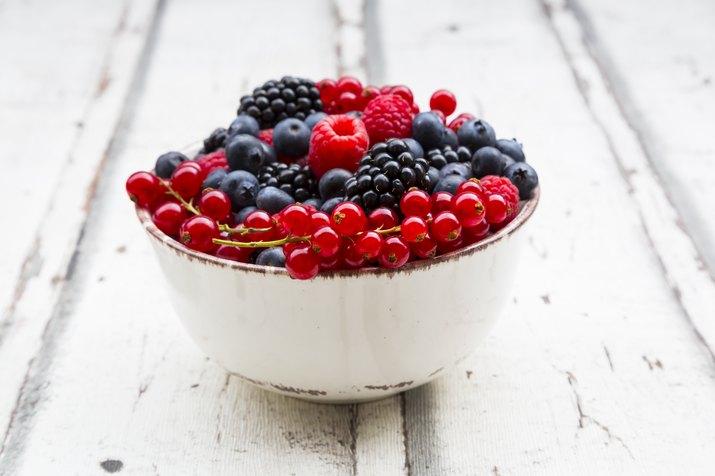 Wild berries in bowl