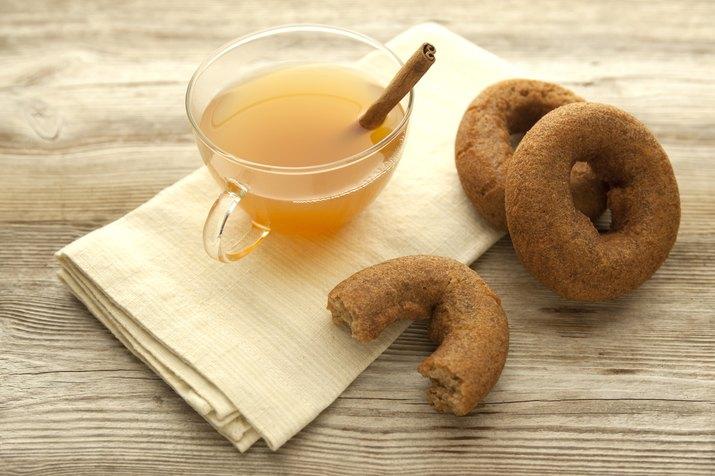 Apple cider and cider donuts