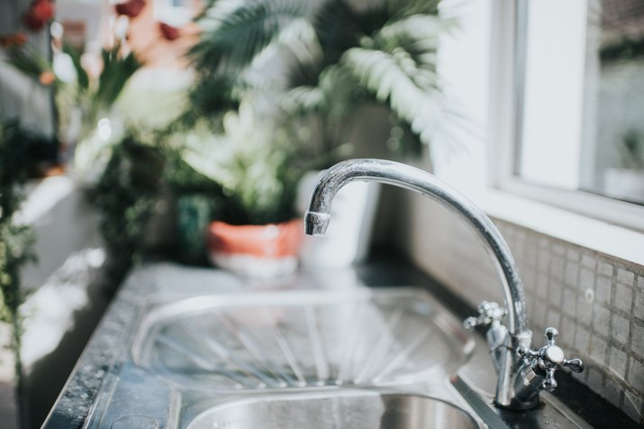 Chrome Tap in a kitchen