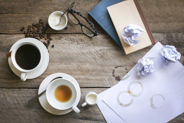 Table top coffee break time.