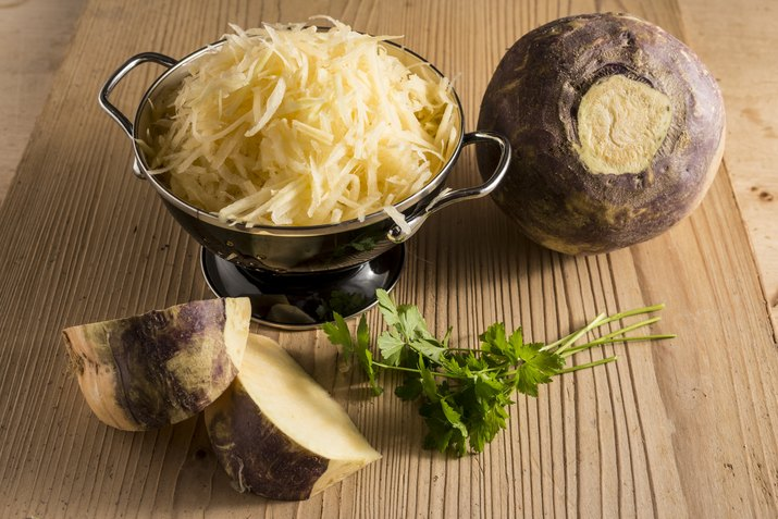 Grated swede