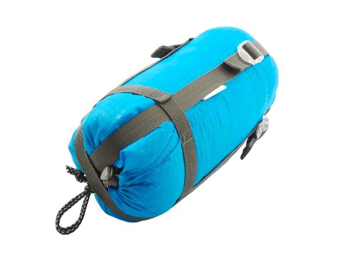 Sleeping bag packed