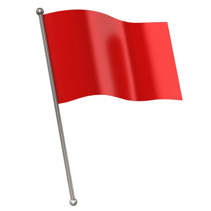 red flag isolated