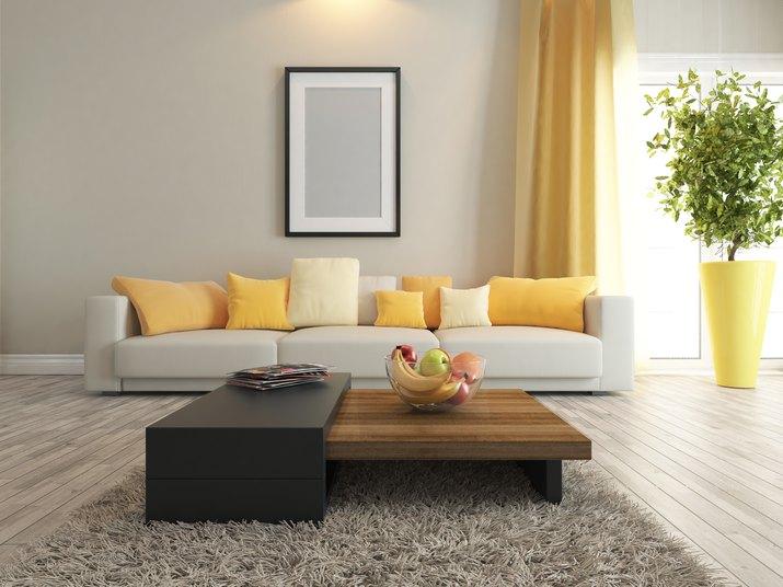 living room or saloon interior design rendering