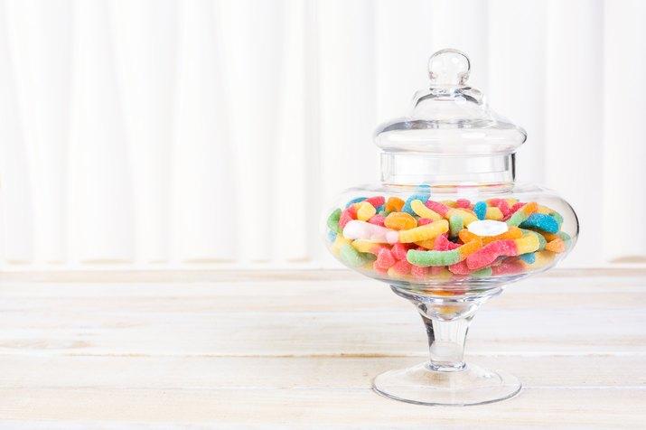 Candies in candy jar